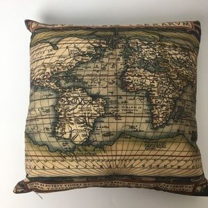 Other - Accent Pillow, old world map